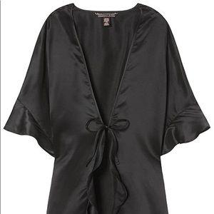 Victoria's Secret Flutter-Sleeve Satin Kimono